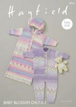 Hayfield Baby Blossom Chunky - 4714 All-in-one & Sleeping Bag Knitting Pattern